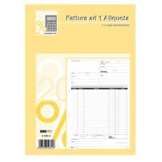 Blocco fatture 1 aliquota Iva - 33/33/33 fogli autoricalcanti - 29,7 x 21cm - Edipro