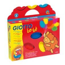 Supercolori a dita - 100ml  - rosso, blu, giallo - Giotto bebe