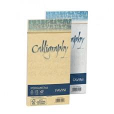 Busta Calligraphy Pergamena - 110 x 220 mm - 90 gr - crema 05 - Favini - conf. 25 pezzi