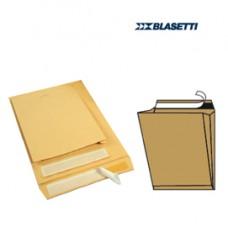 Busta a sacco avana - serie Mailpack - soffietti laterali - fondo preformato - strip adesivo - 190x260x40 mm - 80 gr - Blasetti - conf. 10 pezzi