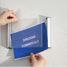 Porta targa appendibile Wall Sign - A4 - 21x30 cm - Tecnostyl