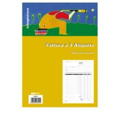 Blocco fatture 3 aliquote Iva - 33 fogli 3 copie autoricalcanti - 29,7 x 21cm - Edipro