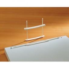 Fastener fermafogli - plastica - passo 80 mm - capacitA' 6 cm - bianco - Fellowes - conf. 100 pezzi