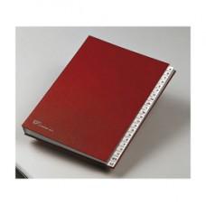 Classificatore alfabetico A/Z - 640E - 24x34 cm - rosso - Fraschini