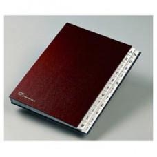 Classificatore alfabetico A/Z - 640D - 24x34 cm - rosso - Fraschini