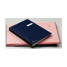 Libro firma - 18 intercalari - con porta etichette - 24x34 cm - blu - Fraschini