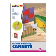 Cartoncino ondulato CannetE' 2206 - 50 x 70 cm - bianco - DECO - conf. 10 pezzi