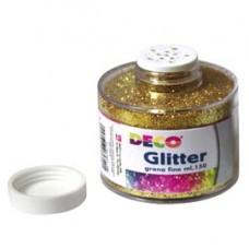 Barattolo Glitter - grana fine - 150ml -  oro - DECO