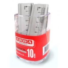 Barattolo 15 righelli - 10cm - alluminio - Arda