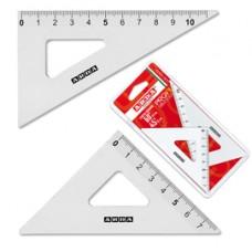 Coppia squadra Profil - 45/60gradi - 12cm - alluminio - Arda