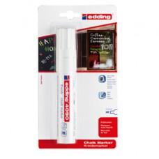 Marcator Edding 4090  - punta scalpello da 4,00-15,00mm - bianco - Edding