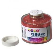 Barattolo Glitter - grana fine - 150ml -  rosso - DECO