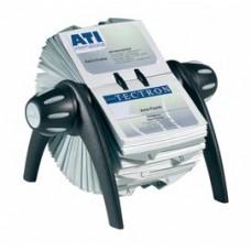 Portabiglietti da visita rotativo Visifix  Flip - 200 buste - 25 schede alfabetiche A/Z - 21,5x12x18,5 cm - Durable