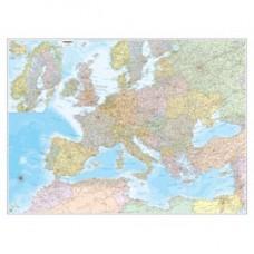Carta geografica Europa amministrativa e stradale - murale - 132x99 cm - Belletti