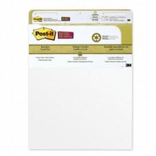 Blocco da parete Super Sticky - 30 fogli in carta riciclata - 63,5x77,5 cm - bianco - Post it