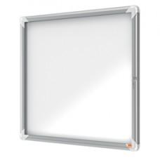 Bacheca per esterni - fondo magnetico bianco - 6 fogli A4 - orizzontale - Nobo