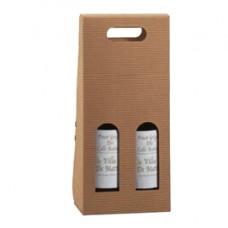Scatola bottiglie Onda avana - 2 bottiglie - 18 x 9 x 38,5cm - Scotton