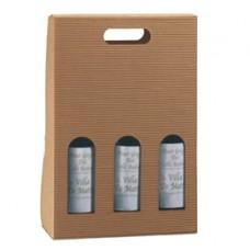 Scatola bottiglie Onda avana - 2 bottiglia - 270 x 90 x 385mm - Scotton