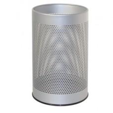 Cestino tondo - metallo forato - 15 litri - grigio - Stilcasa