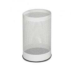 Cestino tondo - metallo forato - 15 litri - bianco - Stilcasa