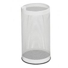 Portaombrelli tondo - metallo forato - 20 litri - diametro 24 cm - altezza 48 cm - bianco - StilCasa