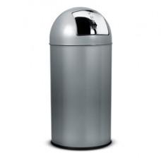 Gettacarte Push - 40 litri - diametro 31cm - altezza 74 cm - grigio - StilCasa
