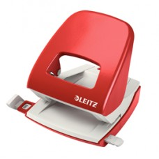 Perforatore 5008 - passo 8 cm - massimo 30 fogli - 2 fori - rosso - Leitz