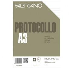 Foglio protocollo - A4 - 1 rigo - 60 gr - Fabriano - conf. 200 pezzi
