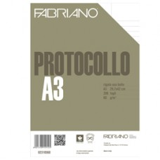 Foglio protocollo - A4 - uso bollo - 60 gr - Fabriano - conf. 200 pezzi