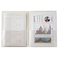 Cartelline con tasche Poli 300 - PPL - buccia - 21x29,7 cm - trasparenti - Sei Rota - conf. 5 pezzi