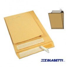 Busta a sacco avana - serie Monodex - soffietti laterali - strip adesivo - 230x330x40 mm - 100 gr - Blasetti - conf. 250 pezzi