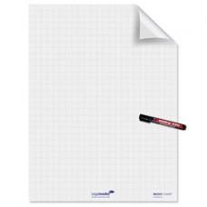 Fogli elettrostatici Magic Chart - 60x80 cm - quadretti 2,5 cm - Legamaster - rotolo da 25 pezzi