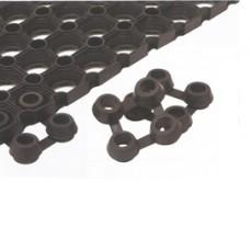 Connettori per tappeto in gomma Best - nero - Velcoc - conf. 25 pezzi