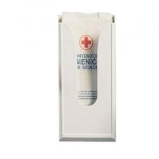 Dispenser per sacchetti igienici - capacitA' 60 sacchetti - 13,5x5,5x29,5 cm - bianco - Mar Plast