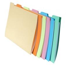 Cartelline con tacca per cartelle sospese - cassetto - 240 gr - 24x32 cm - Exacompta - conf. 6 pezzi