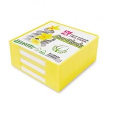 Contenitore in plastica con foglietti - bianco - 10 x 10 x 5cm - carta riciclata 100 - IKona+