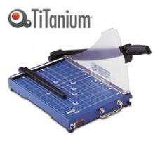 Taglierina a leva 3023 - A4 - 385x405x410 mm - 310 mm (A4) - capacitA' taglio 20 fg - con blocca lama - blu - Titanium