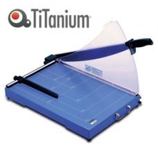 Taglierina a leva 3025 - A3 - 360x535x445 mm - 448 mm - capacitA' taglio 20 fg - con blocca lama - blu - Titanium