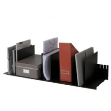 Portariviste - 10 separatori mobili - nero - 80,2x27,5x21 cm - nero - Paperflow
