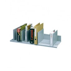 Portariviste - 10 separatori mobili - grigio - 80,2x27,5x21 cm - grigio - Paperflow