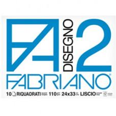 Album F2 - 24x33cm - 10 fogli - 110gr - liscio squadrato - punto metallo - Fabriano
