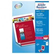 Carta laser - A4 - 150 gr - effetto extra glossy - bianco - Avery - conf. 200 fogli