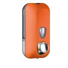 Dispenser Soft Touch per sapone liquido - 10,2x9x21,6 cm - capacitA' 0,55 L - arancio - Mar Plast