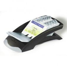 Portabiglietti da visita Visifix  Desk Vegas - 100 buste - separatore A/Z - 13,1x6,7x24,5 cm - grigio - Durable