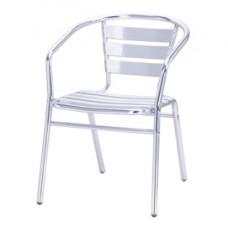 Sedia impilabile - 53x57x72 cm - alluminio - acciaio - Serena Group