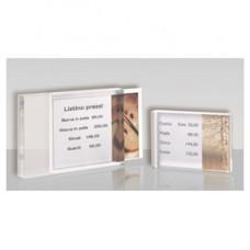 Porta prezzi da banco - materiale acrilico - taglia medium (10x14x2 cm) - Tecnostyl