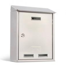Cassetta postale Elios Steel - 27,5x35x12 cm - acciaio inox - Metalplus