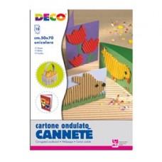 Cartoncino ondulato CannetE' 2206 - 50x70cm - nero - DECO - Conf.10 fogli
