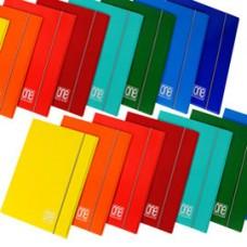 Cartellina One Color - 17 x 25 cm - 3 lembi - con elastico - Blasetti
