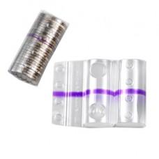 Blister portamonete - 2 euro - fascia viola - Iternet - sacchetto da 100 blister